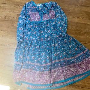 NWOT Blue Boheme Maxi Dress M/L